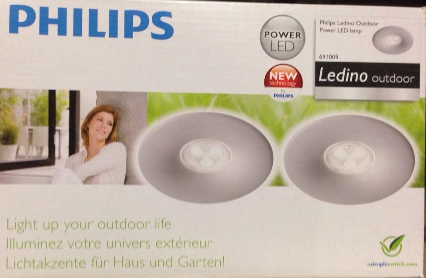 Philips Philips Ledino 2er LED-Einbaustrahler-Set grau 16811/87/16 16811/87/16
