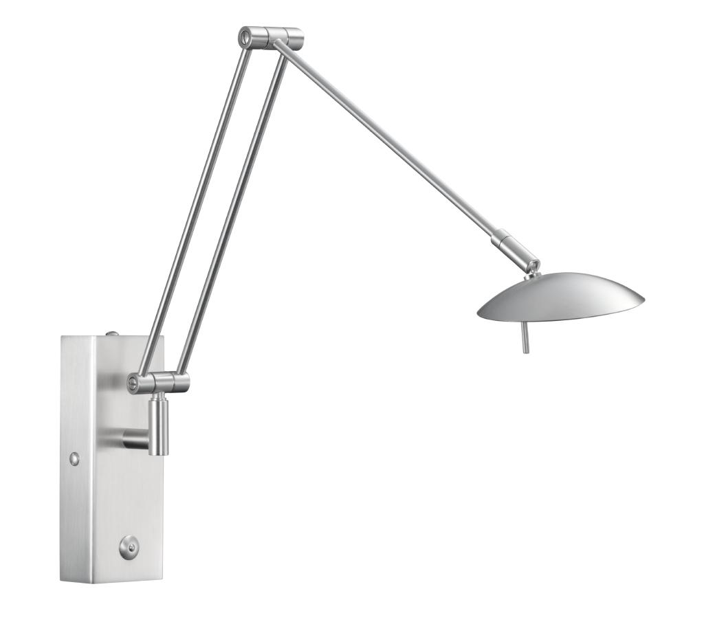GKS Knapstein LED-Wandleuchte Nickel matt 21.816.05