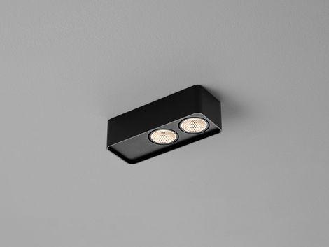 Helestra LED-2er-Deckenstrahler CAS schwarz 25/2115.22
