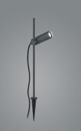 LED-Erdspießleuchte RISE graphit