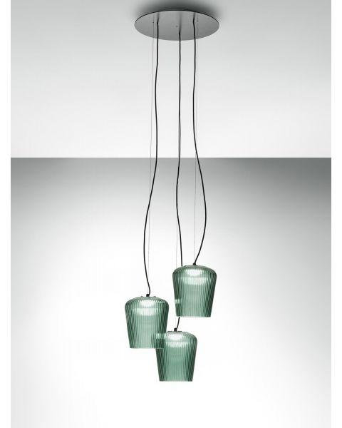 3er-LED-Pendelleuchte PLISSE
