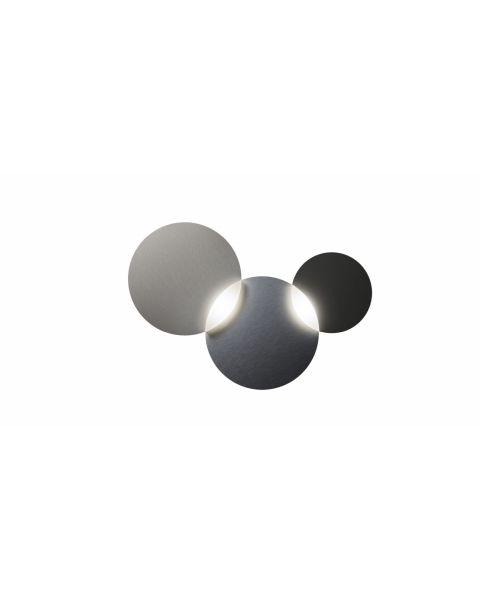 2er-LED-Wand-/Deckenleuchte CIRC SMART graphit/silber