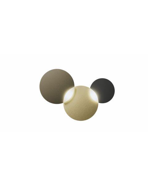 2er-LED-Wand-/Deckenleuchte CIRC SMART Bronze/Messing