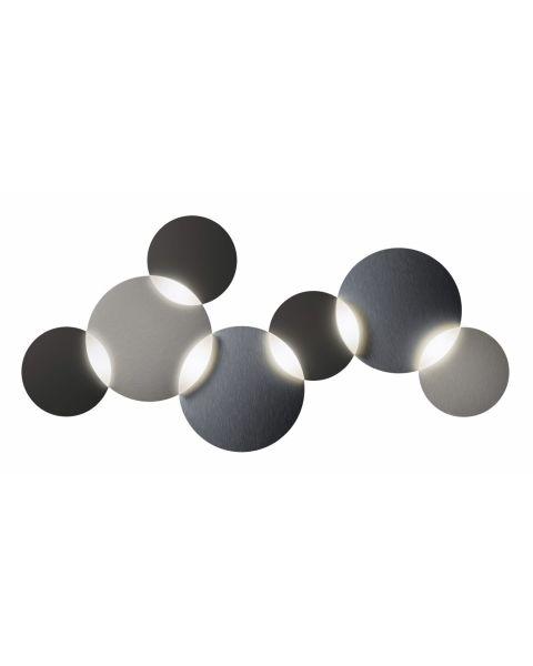 6er-LED-Deckenleuchte CIRC SMART graphit/silber