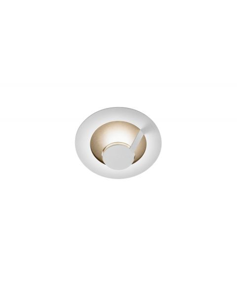LED-Wand-/Deckenleuchte FLAT SMART 29cm weiß/gold