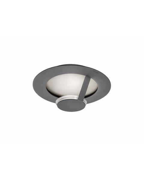 LED-Wand-/Deckenleuchte FLAT SMART 36cm grau/silber