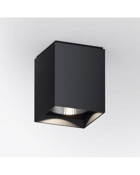 LED-Deckenspot UP S schwarz (eckig)