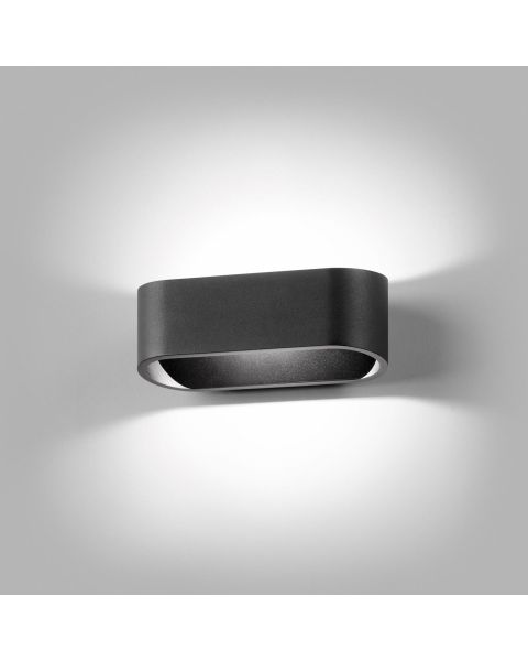 LED-Wandleuchte AURA 16cm schwarz