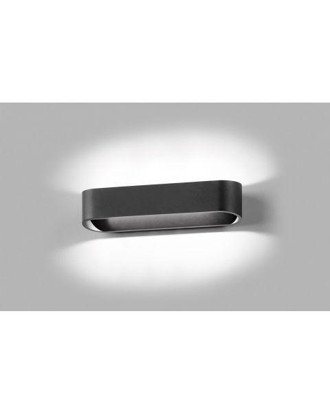 LED-Wandleuchte AURA 26cm schwarz