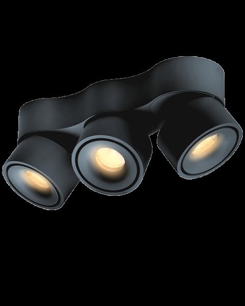 3er-LED-Spot EASY TRIPLE schwarz