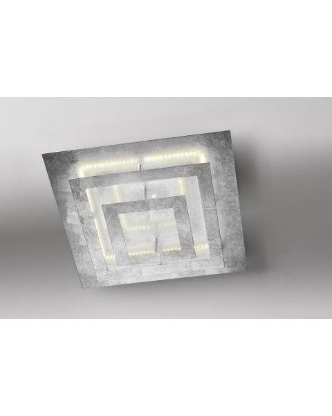 LED-Deckenleuchte SQUARE 40x40cm Blattsilber