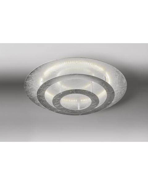 LED-Deckenleuchte CIRCLE 40cm Blattsilber