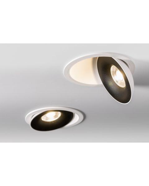 LED-Einbaustrahler SATURN weiß/schwarz 3000K