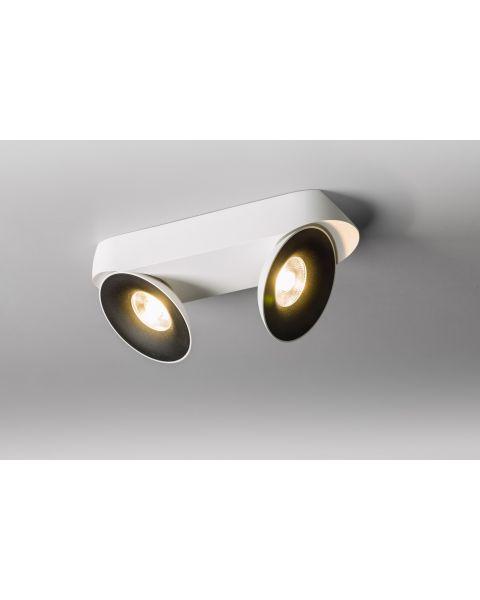 2er-LED-Deckenspot SATURN weiß/schwarz 3000K