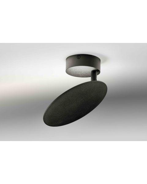 LED-Wand-/Deckenleuchte PLATE schwarz