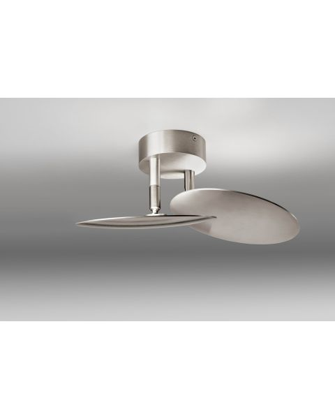 2er-LED-Deckenleuchte PLATE Alu
