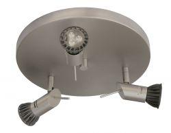 KPM 3er-Deckenspot LEDO Nickel matt 15296-45