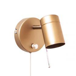 Wandleuchte Correct 1-flam Gold matt