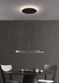 LED-Pendelleuchte ARC 65cm schwarz