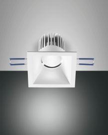 Fabas Luce LED-Einbauleuchte SIGMA weiß eckig (nicht schwenkbar) 3445-72-347