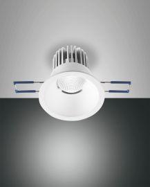 Fabas Luce LED-Einbauleuchte SIGMA weiß rund (nicht schwenkbar) 3445-72-346