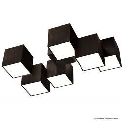Grossmann 6er-LED-Deckenleuchte ROCKS schwarz 76-853-046