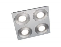 LED-Deckenleuchte COAX 40x40cm weiß
