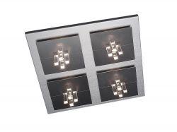 LED-Deckenleuchte FOUR 48x48cm Alu
