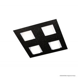 Grossmann LED-Deckenleuchte BASIC 30x30m schwarz 74-790-046
