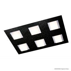 Grossmann LED-Deckenleuchte BASIC 45x30m schwarz 76-790-046