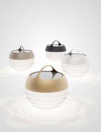LED-Akku-Solar-Tischleuchte AQU