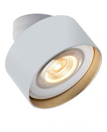 LED-Spot LUXX GLAS weiß/Blattgold (dim-to-warm)