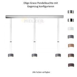 Oligo LED-3er-Pendelleuchte GRACE mit Gegenzug