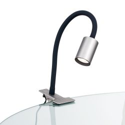 Orion LED-Klemmleuchte KURT Nickel matt Str 10-489 satin