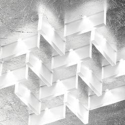 LED-Deckenleuchte CRISTALLI 36x36cm