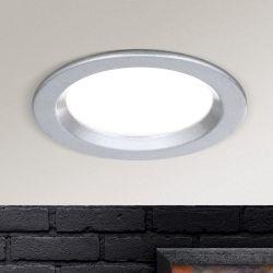 Hausmarke LED-Einbauleuchte 9cm Str 10-487 silber