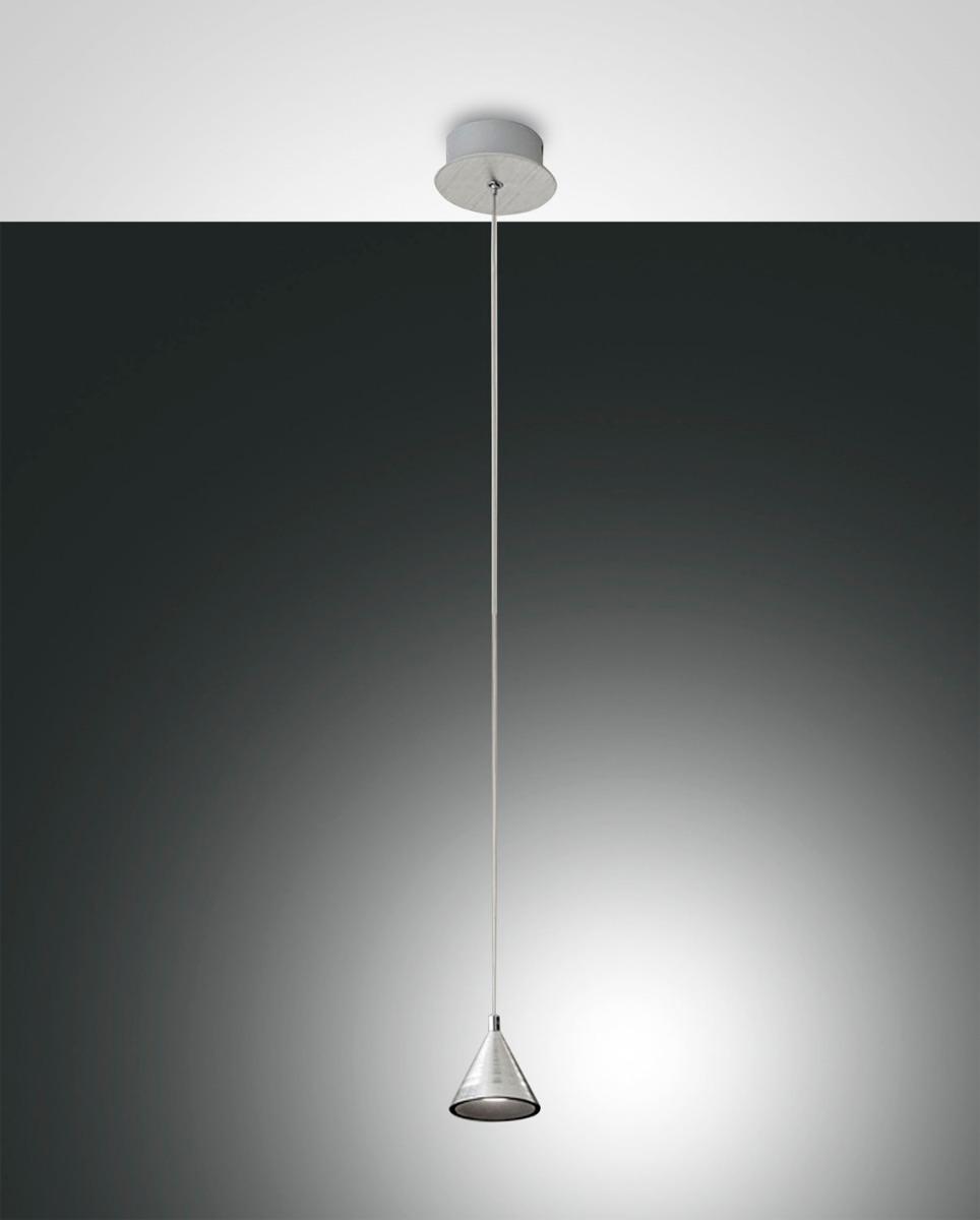 Fabas Luce LED-Pendelleuchte DELTA Alu 3443-41-212