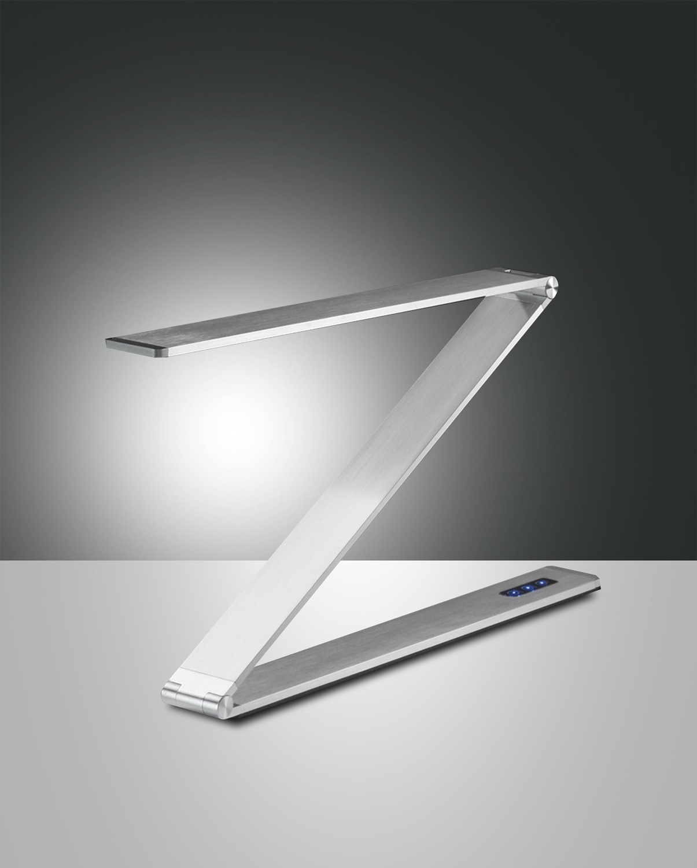 Fabas Luce LED-Tischleuchte FITZ Alu 3264-30-212