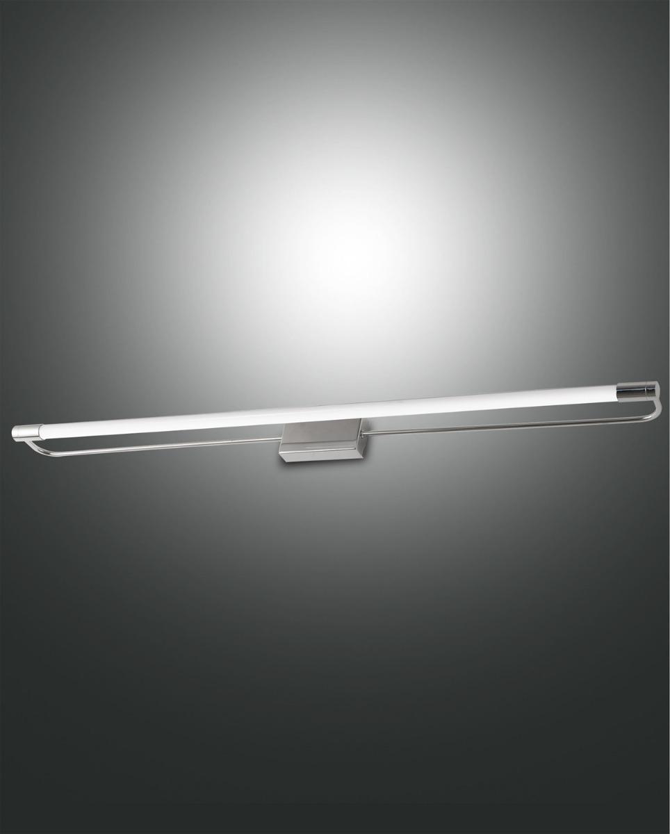 Fabas Luce LED-Wandleuchte RAPALLO 80cm Chrom 3552-28-138