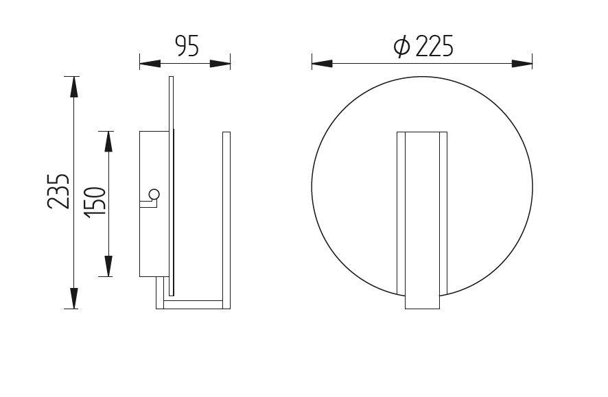 GKS Knapstein LED-Wandleuchte Nickel matt 21.835.05