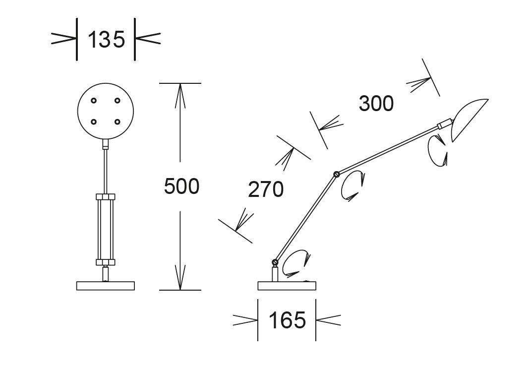 GKS Knapstein LED-Tischleuchte Chrom 61.605.06