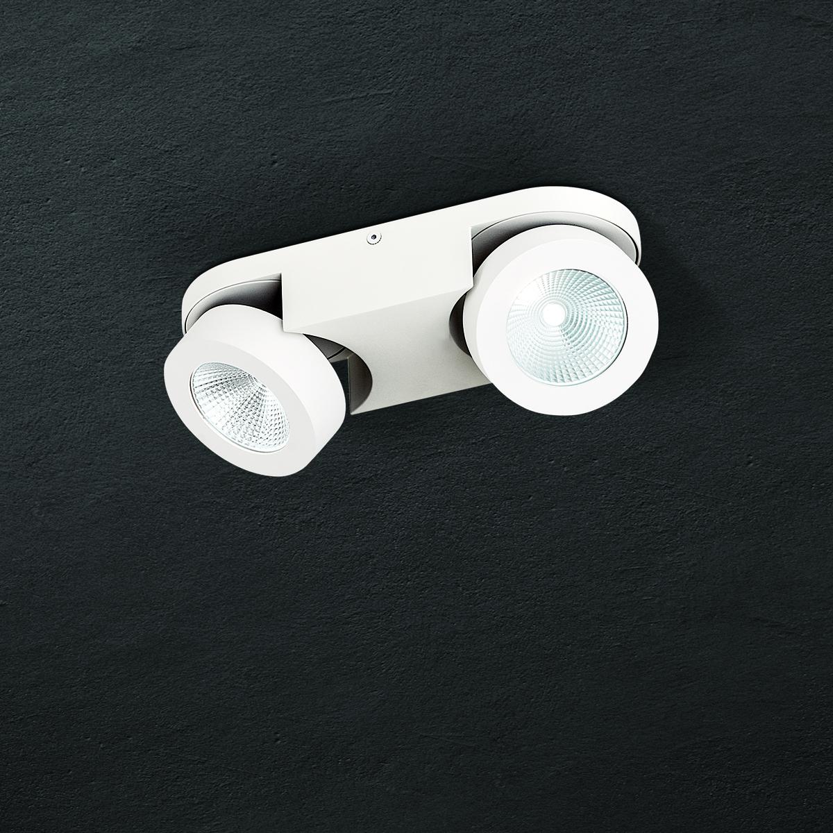 Hausmarke 2er LED-Spot MENO weiß Str 10-467/2 weiß