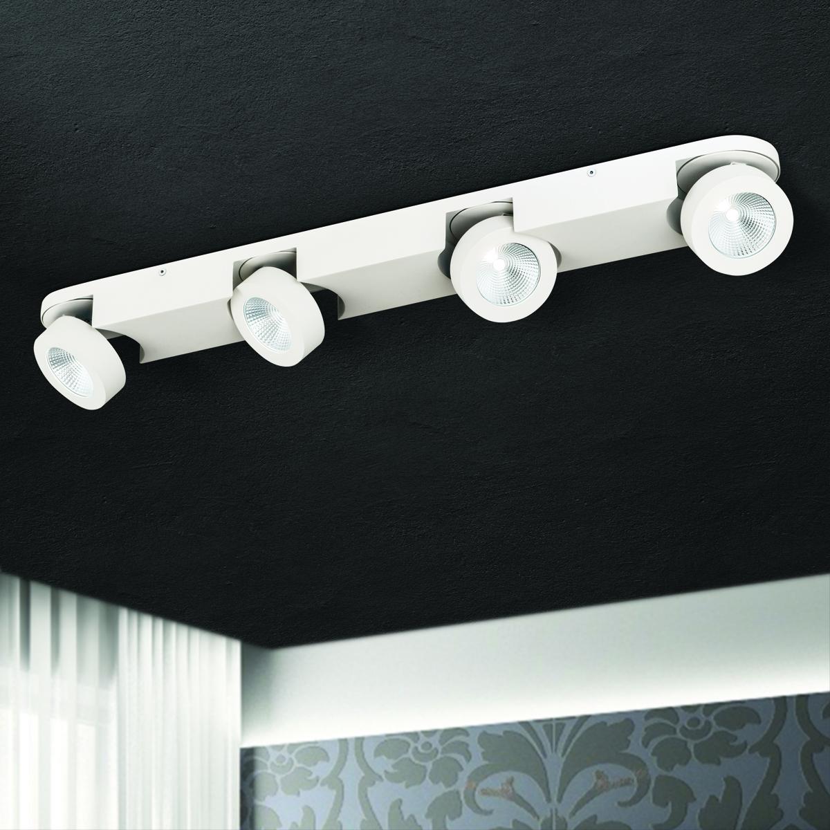 Hausmarke 4er LED-Spot MENO weiß Str 10-467/4 weiß