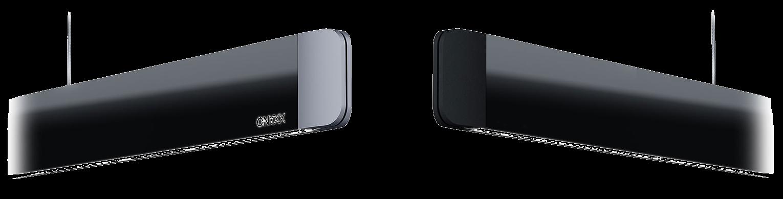 Endkappen in schwarz oder silber zu Onyxx linea Pro Pendelleuchte von Grimmeisen