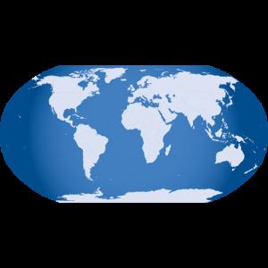 Weltkugel als Information für nicht angegebene Lieferländer