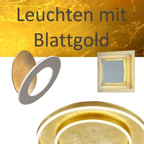 Lampen mit Blattgold