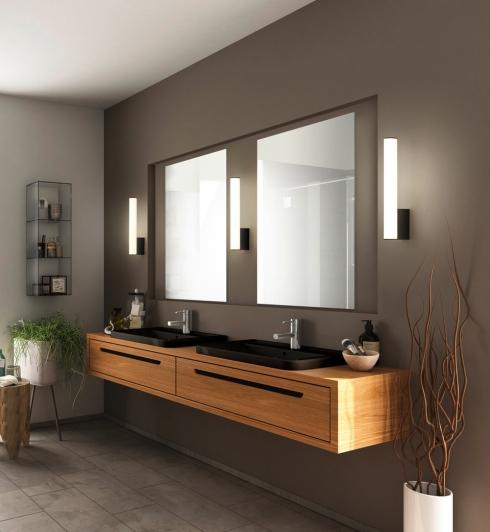 Spiegelbeleuchtung im Bad mit Helestra Loom