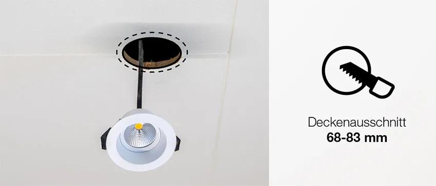 LED-Einbaustrahler für flexieble Lochgrößen