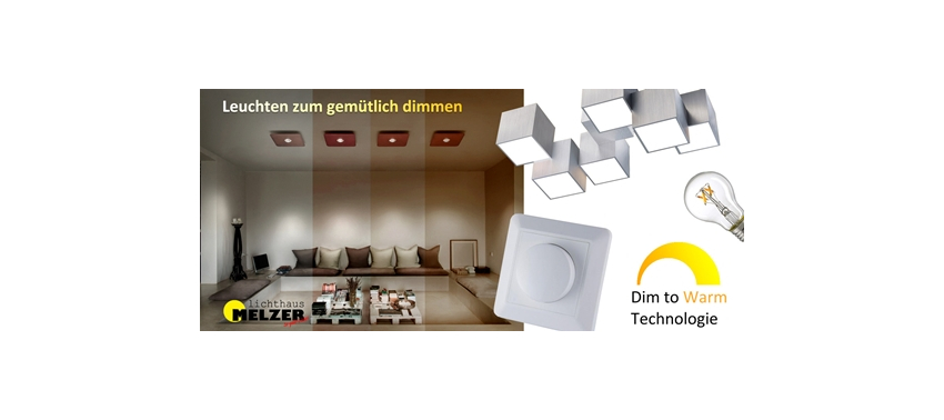 LED-Einbaustrahler mit dim to warm Technologie