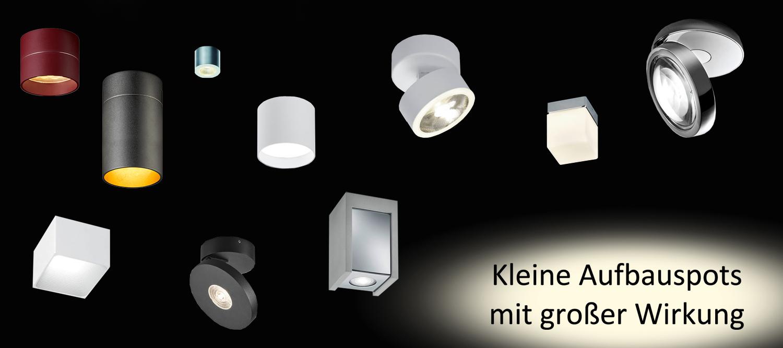 Kleine Lampen und Aufbaustrahler